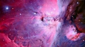 Nebula Bulutlar Pembe Dünya & Uzay Kanvas Tablo
