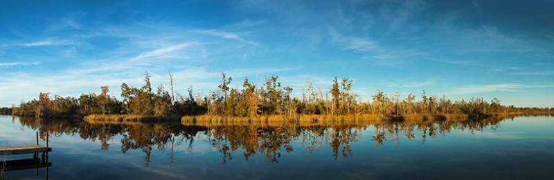 Nehir ve Doğa Panaroma Panaromik Manzara Kanvas Tablo