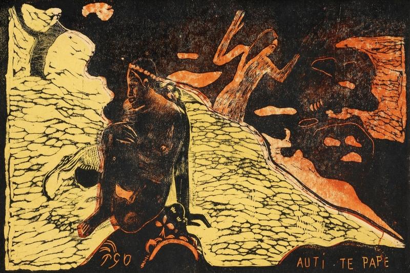 Nehirdeki Kadın, Auti Te Pape The Woman At The River Paul Gauguin Reproduksiyon Kanvas Tablo