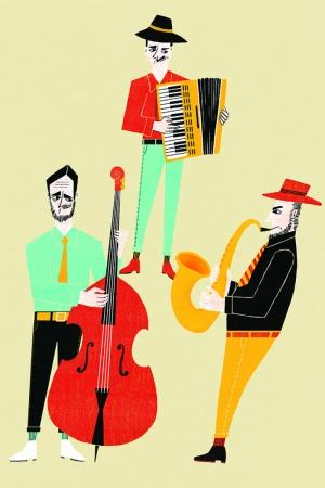Neşeli Müzisyenler Modern Sanat Kanvas Tablo