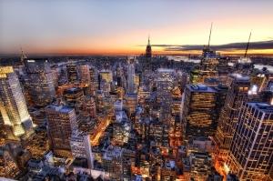 New York Gece Manzarası Dünyaca Ünlü Şehirler Kanvas Tablo
