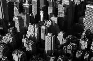 New York Şehri Siyah Beyaz Fotoğraf Kanvas Tablo