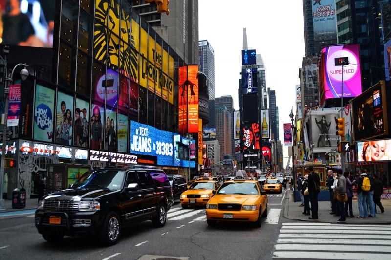 Newyork Şehir Manzarası Gökdelenler-10 HD Akşam Manzarası Dünyaca Ünlü Şehirler Kanvas Tablo