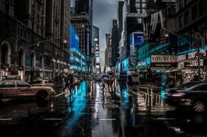 Newyork Şehir Manzarası Gökdelenler-3 Akşam Manzarası Dünyaca Ünlü Şehirler Kanvas Tablo