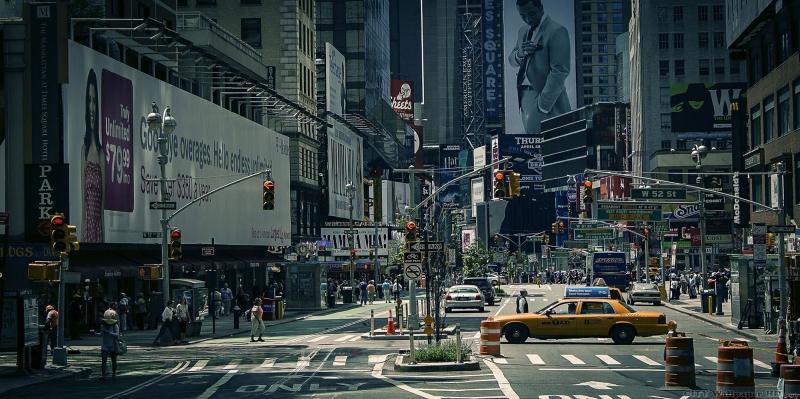 Newyork Şehir Manzarası Gökdelenler-4 Dünyaca Ünlü Şehirler Kanvas Tablo