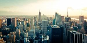 Newyork Şehir Manzarası Gökdelenler-6 Akşam Manzarası Dünyaca Ünlü Şehirler Kanvas Tablo