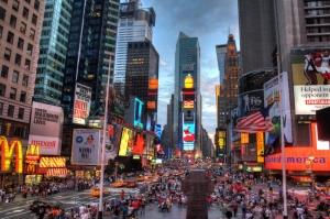 Newyork Şehir Manzarası Gökdelenler-7 Akşam Manzarası Dünyaca Ünlü Şehirler Kanvas Tablo