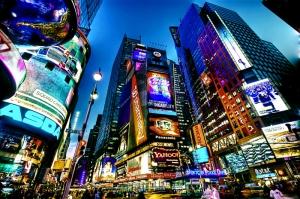 Newyork Şehir Manzarası Gökdelenler-9 Akşam Manzarası Dünyaca Ünlü Şehirler Kanvas Tablo