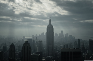 Newyork Şehir Manzarası Gökdelenler Siyah Beyaz Dünyaca Ünlü Şehirler Kanvas Tablo