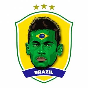 Neymar Brezilya Futbol Spor Kanvas Tablo