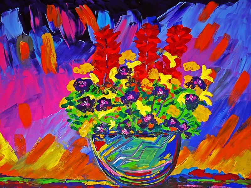 Nicolas Vite Art Works Floral Sanat Kanvas Tablo