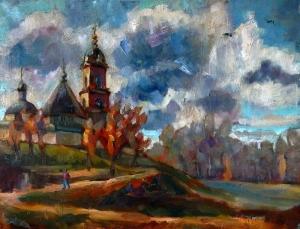 Nina Silaeva Serpukhov 2 Vysotsky Manastırı Yağlı Boya Klasik Sanat Kanvas Tablo