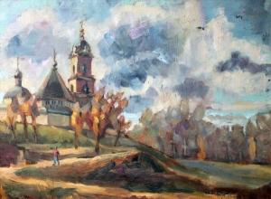 Nina Silaeva Serpukhov Vysotsky Manastırı  Yağlı Boya Klasik Sanat Kanvas Tablo