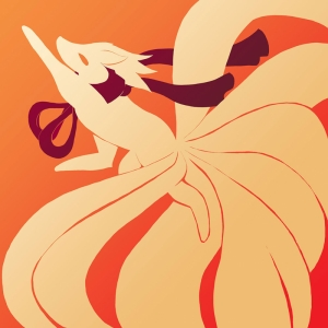 Ninetales Silhouette Pokemon Karekterleri Pokemon Kanvas Tablo