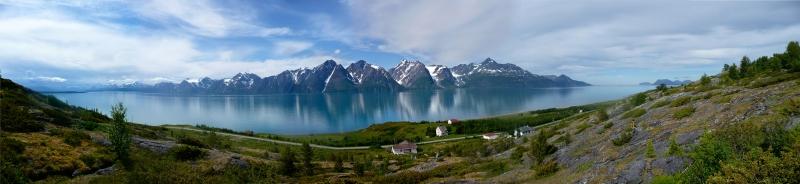 Norveç Doğa Manzarası  Panaromik Kanvas Tablo