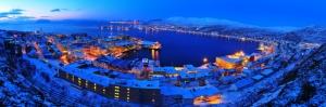 Norveç Hammerfest Panorama Şehir Manzaraları Kanvas Tablo