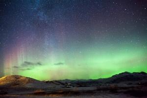 Norveç Kuzey Işıkları Doğa Manzaraları Kanvas Tablo