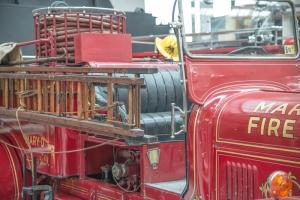 Nostaljik İtfaiye Aracı Araçlar Kanvas Tablo