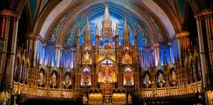 Notre Dame Kilisesi-2 Dini İnanç Kanvas Tablo