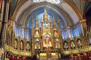 Notre Dame Kilisesi-4 Dini İnanç Kanvas Tablo