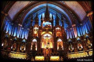Notre Dame Kilisesi Dini İnanç Kanvas Tablo