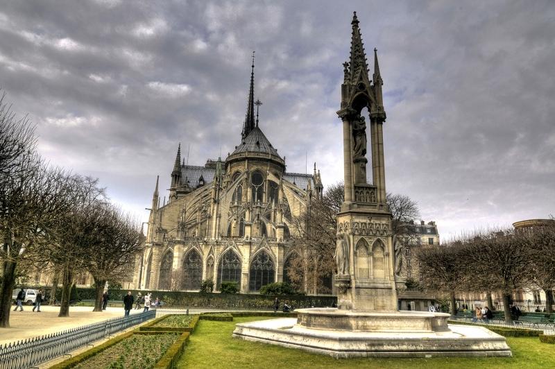 Notre Dame Kilisesi-3 Dini İnanç Kanvas Tablo