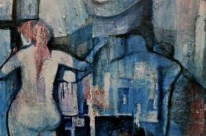 Nu Bayan Portre 2 Yağlı Boya Sanat Kanvas Tablo