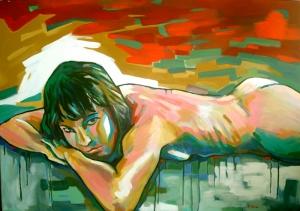 Nu Tablo 2 Yağlı Boya Sanat Kanvas Tablo