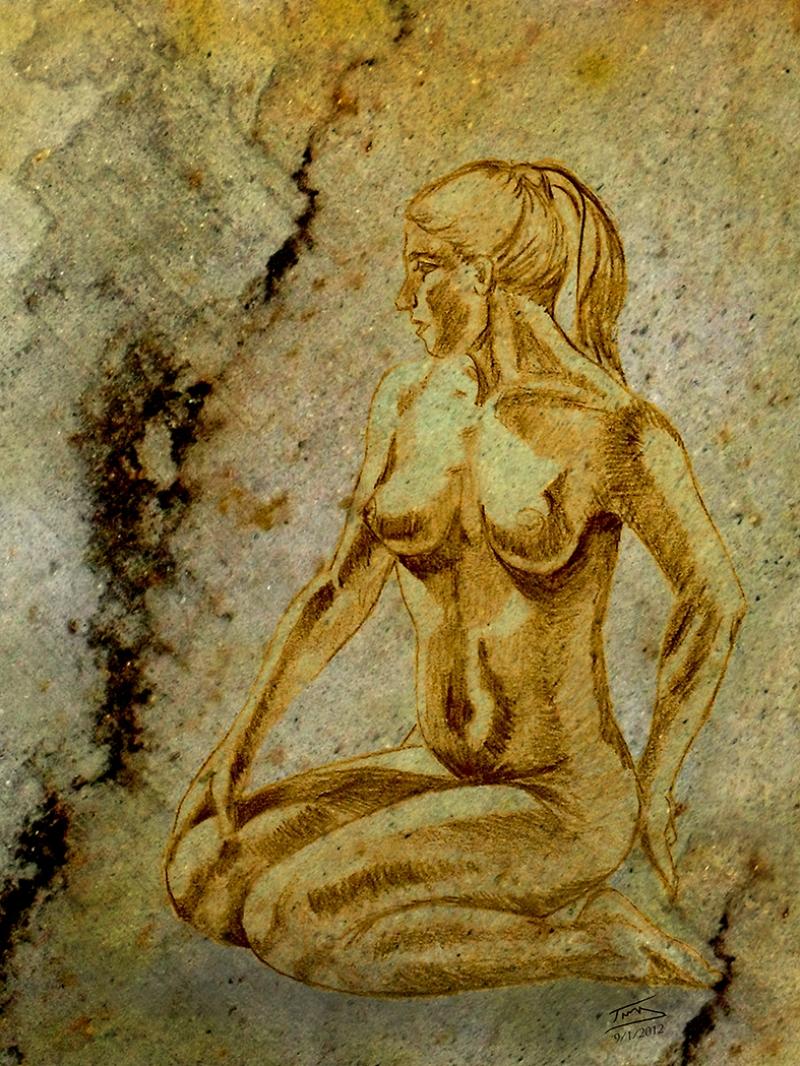 Nu Tablo Yağlı Boya Sanat Kanvas Tablo