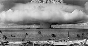 Nükleer Bomba Fotoğraf Kanvas Tablo