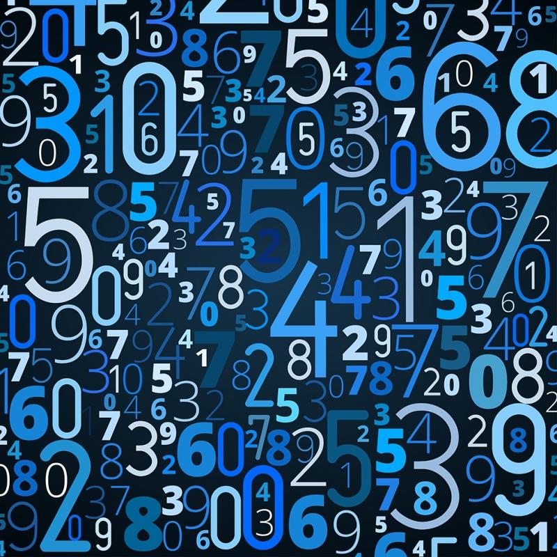 Numbers Retro & Motto Kanvas Tablo