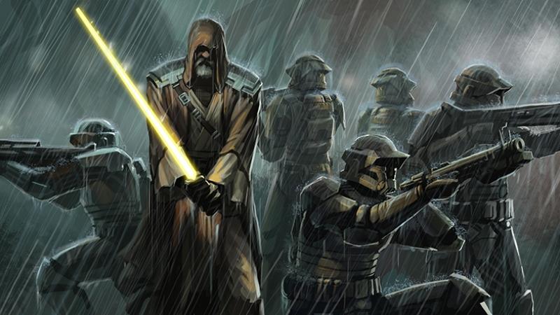 Obi Van Kenobi Stormtrooper Star Wars Kanvas Tablo