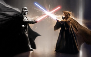 Obi Van Kenobi ve Darth Vader Star Wars Kanvas Tablo
