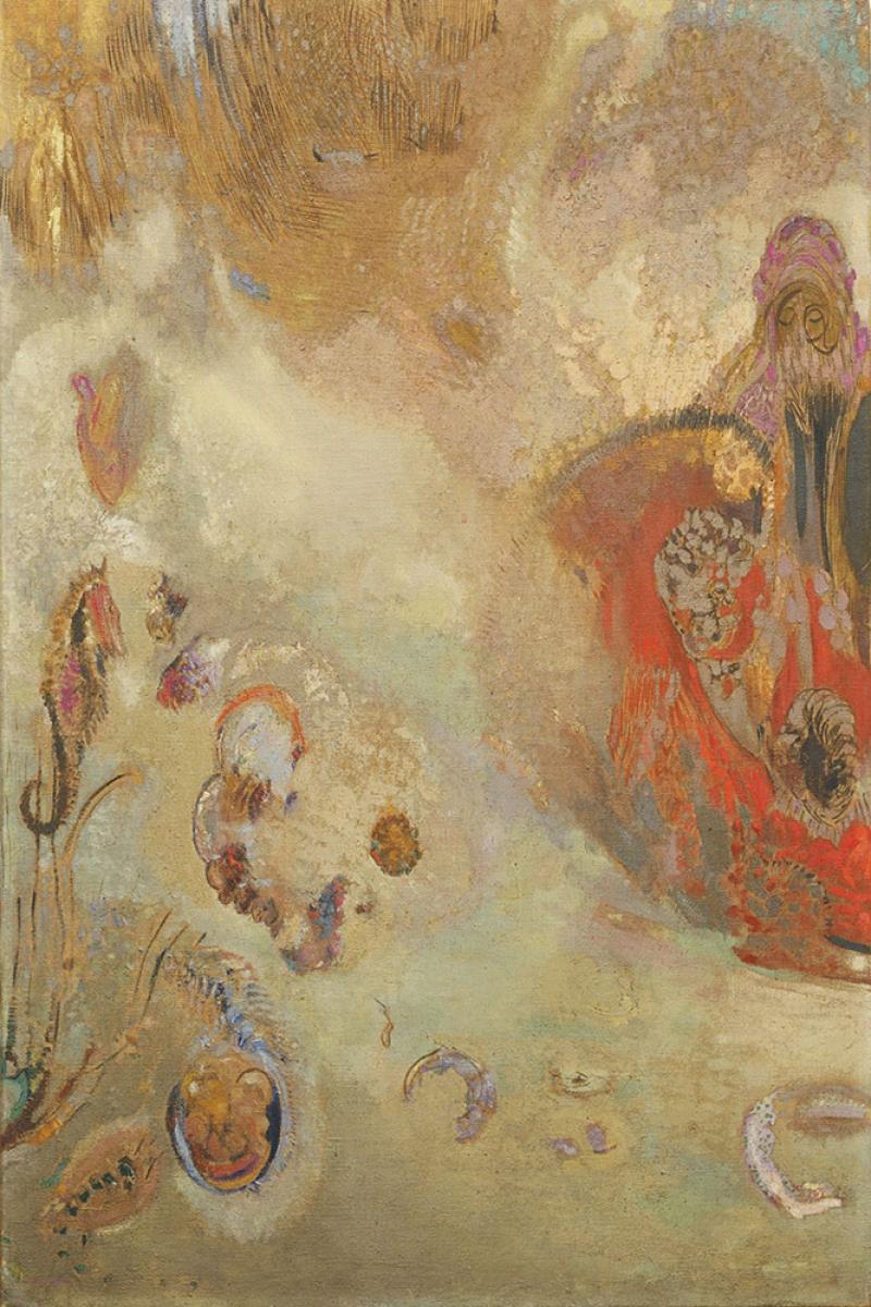 Odilon Redon Su Alti Yagli Boya Klasik Sanat Kanvas Tablo