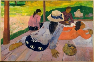 Öğle Tatili, Siesta Paul Gauguin Reproduksiyon Kanvas Tablo