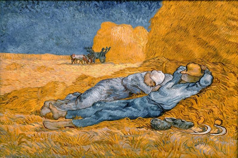 Öğle Uykusu Vincent Van Gogh, Baş Yapıt Reprodüksiyon-kanvas-tablo