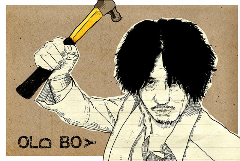 Old Boy İllustrasyon Kanvas Tablo