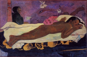 Ölülerin Ruhu Manao Tupapau The Spirit Of The Dead Keep Watch Paul Gauguin Reproduksiyon Kanvas Tablo