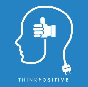 Olumlu Düşün Retro & Motto Kanvas Tablo