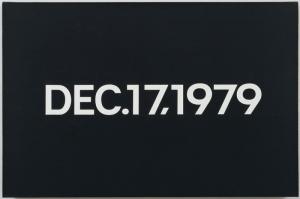 On Kawara 17 Aralik 1979- Aralik Yagli Boya Klasik Sanat Kanvas Tablo