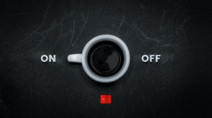 On Off Kahve Fotoğraf Kanvas Tablo