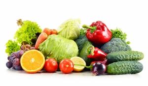Organik Meyve ve Sebzeler Lezzetler Kanvas Tablo