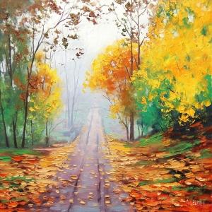 Orman Manzarası Sonbahar 2 Dekoratif Kanvas Kanvas Tablo