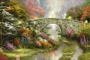 Orman Nehri Doğa Manzaraları 11Yağlı Boya Sanat Kanvas Tablo