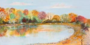 Orman Nehri Doğa Manzaraları 12 Dekoratif Kanvas Tablo