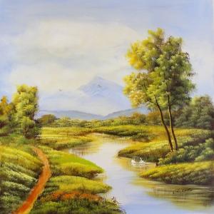 Orman Nehri, Doğa Manzaraları 14, Dekoratif Kanvas Kanvas Tablo