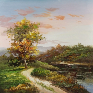 Orman Nehri, Doğa Manzaraları 15, Dekoratif Kanvas Kanvas Tablo