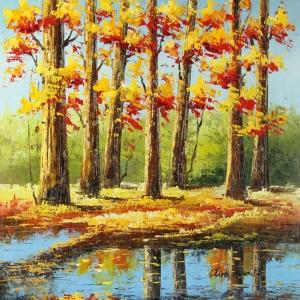 Orman Nehri, Doğa Manzaraları 18, Dekoratif Kanvas Kanvas Tablo