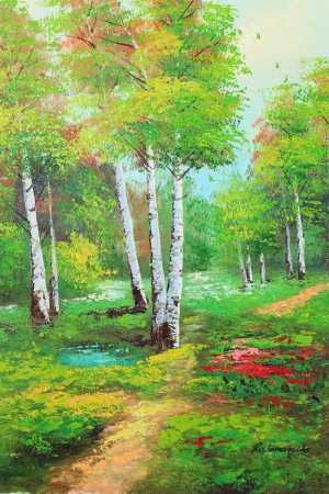 Orman Nehri Doğa Manzaraları 21 Yağlı Boya Sanat Kanvas Tablo