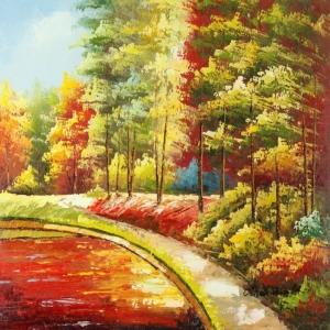Orman, Tarla, Çayır 2, Doğa Manzaraları, Dekoratif Kanvas Kanvas Tablo